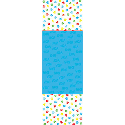 Click for larger picture of PAW-TY TIME! TABLECOVER (6/CS) PARTY SUPPLIES
