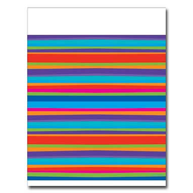 Click for larger picture of DISCONTINUED BIRTHDAY STRIPES TABLECOVER PARTY SUPPLIES