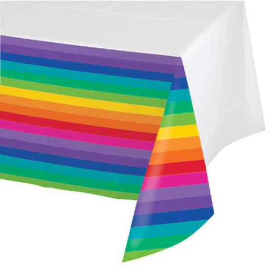 RAINBOW PARTY PLASTIC TABLECOVER PARTY SUPPLIES