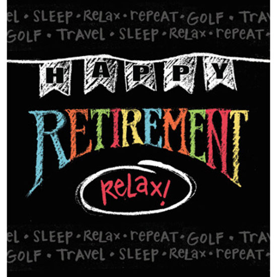 RETIREMENT CHALK PLAS TABLECOVER PARTY SUPPLIES