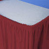 BURGUNDY PLASTIC ADHESIVE BACK SKIRT PARTY SUPPLIES