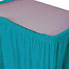TURQUOISE PLASTIC 14' TABLESKIRT (6/CS) PARTY SUPPLIES