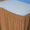 DISCONTINUED MOCHA 14' PLASTIC SKIRT PARTY SUPPLIES