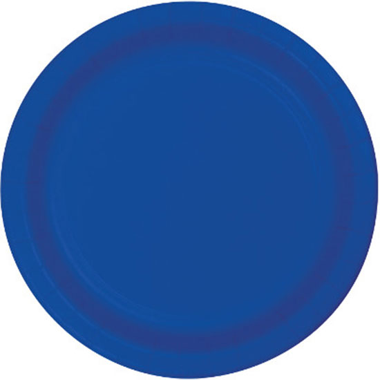 Click for larger picture of COBALT 7 IN PAPER PLATE (240/CS) PARTY SUPPLIES