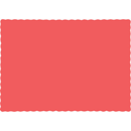 CORAL PLACEMATS PARTY SUPPLIES
