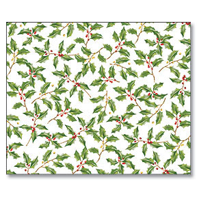 Click for larger picture of PLACEMAT PAPER 14 X 17 HOLLY (144/CS) PARTY SUPPLIES