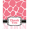 DISCONTINUED WILD SAFARI PINK THANK YOU PARTY SUPPLIES