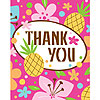 DISCONTINUED PINK LUAU FUN THANK YOU PARTY SUPPLIES