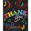 DISCONTINUED MUSIC NOTES THANK YOU PARTY SUPPLIES