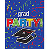 DISCONTINUED GRAD PARTY INVITE 25/PKG PARTY SUPPLIES