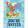 DISCONTINUED FLAMINGO FUN INVITATION PARTY SUPPLIES
