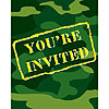 CAMO GEAR INVITATION FLD (48/CS) PARTY SUPPLIES