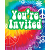 DISCONTINUED TIE DYE FUN INVITE PARTY SUPPLIES