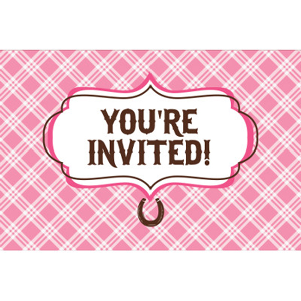 Click for larger picture of HEART MY HORSE INVITATION PARTY SUPPLIES