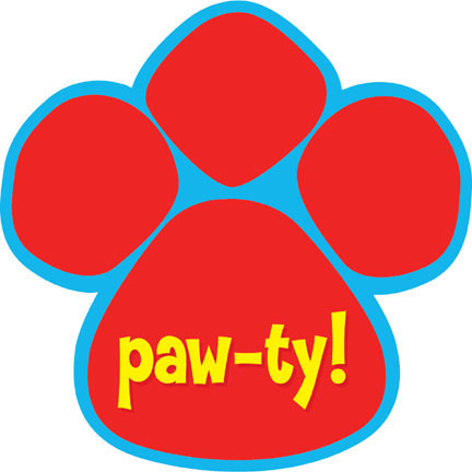 Click for larger picture of PAW-TY TIME! INVITATION (48/CS) PARTY SUPPLIES