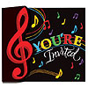 DISCONTINUED MUSIC NOTES INVITATION PARTY SUPPLIES