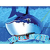 SHARK SPLASH INVITATION PARTY SUPPLIES
