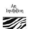 ANIMAL PRINT - ZEBRA INVITATION FLD PARTY SUPPLIES