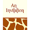 ANIMAL PRINT - GIRAFFE INVITATION FLD PARTY SUPPLIES