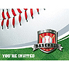 DISCONTINUED BASEBALL INVITATION PARTY SUPPLIES