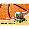 DISCONTINUED BASKETBALL INVITATION PARTY SUPPLIES