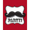 DISCONTINUED MUSTACHE MADNESS INVITATION PARTY SUPPLIES
