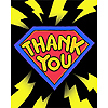 DISCONTINUED SUPERHERO FUN! THANK YOU PARTY SUPPLIES