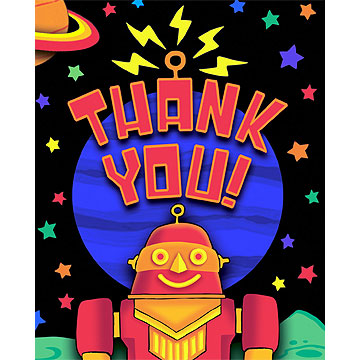 Click for larger picture of DISCONTINUED PARTY 'BOTS THANK YOU PARTY SUPPLIES