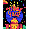 DISCONTINUED PARTY 'BOTS THANK YOU PARTY SUPPLIES