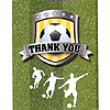 DISCONTINUED SOCCER THANK YOU PARTY SUPPLIES
