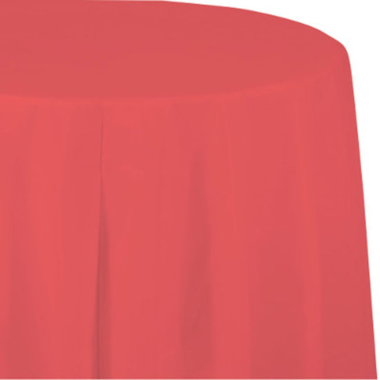 CORAL PAPER 82 INCH OCTY TABLECOVER PARTY SUPPLIES