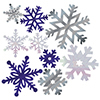 SNOWFLAKE PAPER CUTOUT ASSORTMENT PARTY SUPPLIES