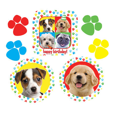 Click for larger picture of PAW-TY TIME! CUTOUT DECORATIONS PARTY SUPPLIES