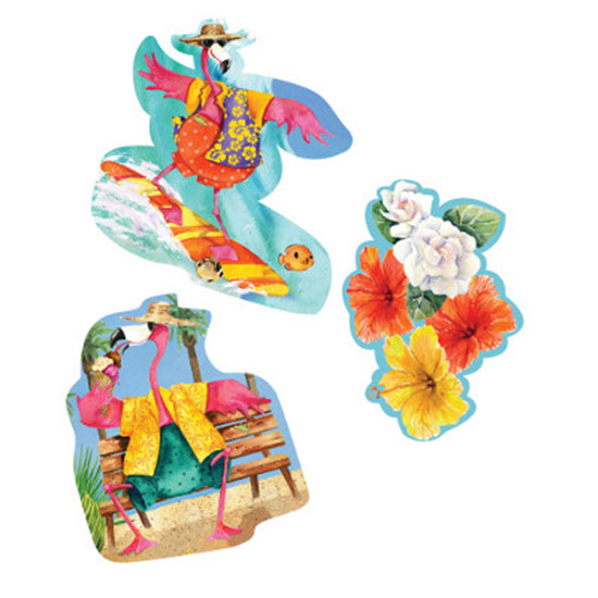 DISCONTINUED FLAMINGO FUN CUTOUT DEC PARTY SUPPLIES