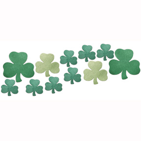 Click for larger picture of DISCONTINUED SHAMROCKS MINI GLITTR D�COR PARTY SUPPLIES