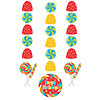 DISCONTINUED SUGAR BUZZ HANGING CUTOUTS PARTY SUPPLIES
