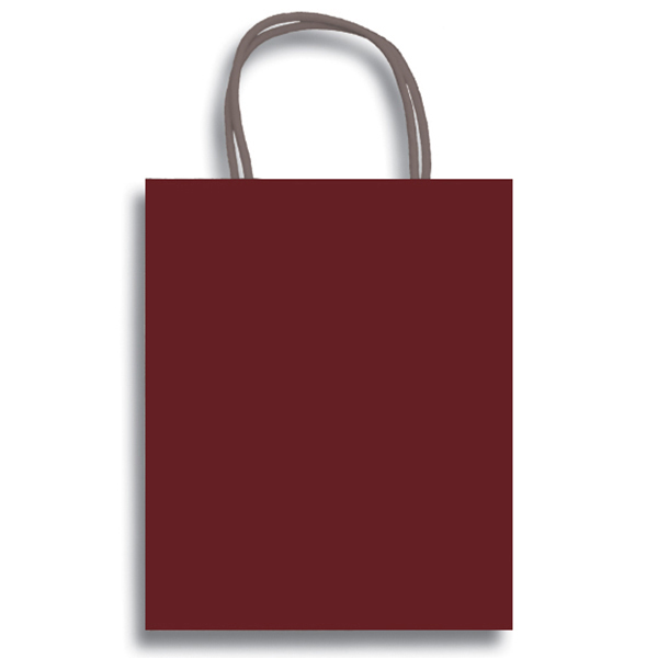 Click For Larger Picture Of Maroon Kraft Gift Bag Medium Party Supplies