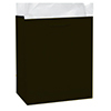 BLACK GLOSSY GIFT BAG MEDIUM PARTY SUPPLIES