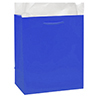 ROYAL BLUE GLOSSY GIFT BAG MEDIUM PARTY SUPPLIES