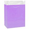 LAVENDER GLOSSY GIFT BAG LARGE PARTY SUPPLIES
