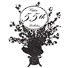 CLASSY BLACK 55TH CENTERPIECE PARTY SUPPLIES