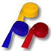 RED BLUE YELLOW CREPE COMBO (SOLID) PARTY SUPPLIES