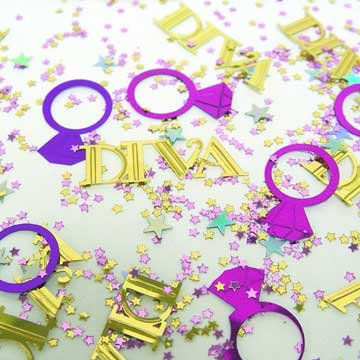 Click for larger picture of DIVA CONFETTI PARTY SUPPLIES