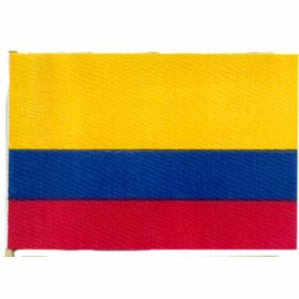 Click for larger picture of 4X6 MUSLIN FLAG- COLOMBIA (36/CS) PARTY SUPPLIES