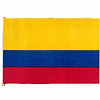 COLOMBIA HANDHELD FLAG (4X6 IN.) PARTY SUPPLIES