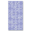 FAITH HOPE LOVE SWANKIE® HANKIE (120/CS) PARTY SUPPLIES