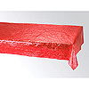 METALLIC RED TABLECOVER  (12/CS) PARTY SUPPLIES