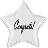 CONGRATS CLASSY BLACK STAR BALLOON PARTY SUPPLIES