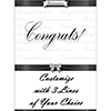 CONGRATULATIONS CLASSY BLACK DOOR BANNER PARTY SUPPLIES
