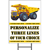 CONSTRUCTION ZONE YARD SIGN PARTY SUPPLIES